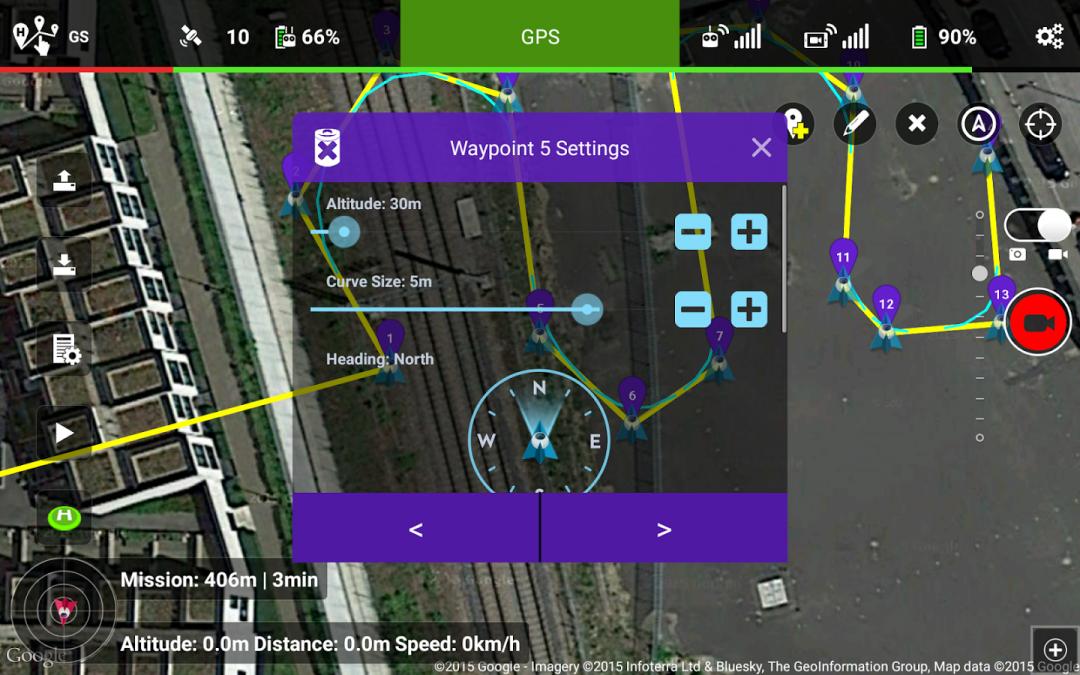 Utilizzare Litchi per il volo automatico del drone