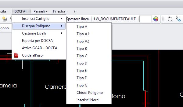 Gcad docfa di gcad gec software for Software per planimetrie